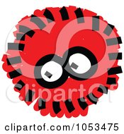 Royalty Free Vector Clip Art Illustration Of A Fluffy Red Germ by Prawny