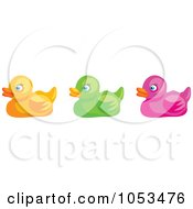 Royalty Free Vector Clip Art Illustration Of A Digital Collage Of Rubber Ducks by Prawny