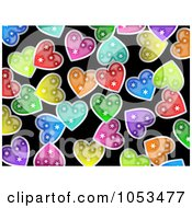 Royalty Free Clip Art Illustration Of A Background Pattern Of Hearts