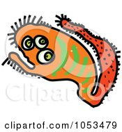 Royalty Free Vector Clip Art Illustration Of A Cartoon Germ 3 by Prawny