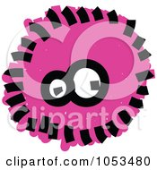 Royalty Free Vector Clip Art Illustration Of A Fluffy Pink Germ by Prawny