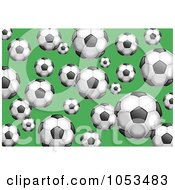 Background Pattern Of Soccer Balls
