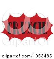 Royalty Free Vector Clip Art Illustration Of A Crunch Comic Burst 4 by Prawny