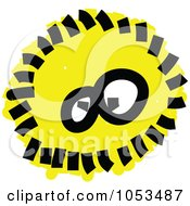 Royalty Free Vector Clip Art Illustration Of A Fluffy Yellow Germ by Prawny
