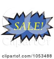 Royalty Free Vector Clip Art Illustration Of A Sale Comic Burst 4 by Prawny