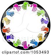 Round Hand Print Frame