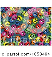 Royalty Free Clip Art Illustration Of A Background Pattern Of Germs by Prawny