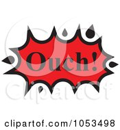Royalty Free Vector Clip Art Illustration Of An Ouch Comic Burst 4