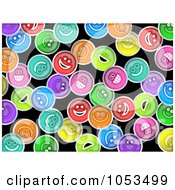 Royalty Free Clip Art Illustration Of A Background Pattern Of Happy Faces