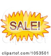 Royalty Free Vector Clip Art Illustration Of A Sale Comic Burst 3 by Prawny