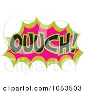 Royalty Free Vector Clip Art Illustration Of An Ouch Comic Burst 2