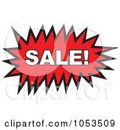 Royalty Free Vector Clip Art Illustration Of A Sale Comic Burst 2 by Prawny