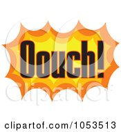 Royalty Free Vector Clip Art Illustration Of An Ouch Comic Burst 3