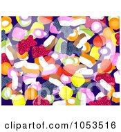 Royalty Free Clip Art Illustration Of A Background Pattern Of Candy