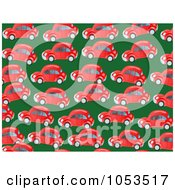 Royalty Free Clip Art Illustration Of A Background Pattern Of Red Cars