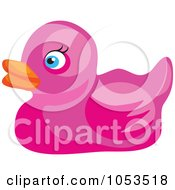 Royalty Free Vector Clip Art Illustration Of A Pink Rubber Duck by Prawny