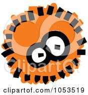 Royalty Free Vector Clip Art Illustration Of A Fluffy Orange Germ by Prawny