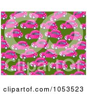Royalty Free Clip Art Illustration Of A Background Pattern Of Pink Cars