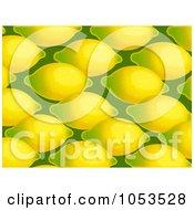Royalty Free Clip Art Illustration Of A Background Pattern Of Lemons