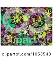 Royalty Free Clip Art Illustration Of A Background Pattern Of Splatters 8 by Prawny