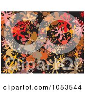 Royalty Free Clip Art Illustration Of A Background Pattern Of Splatters 4