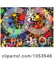 Royalty Free Clip Art Illustration Of A Background Pattern Of Splatters 3 by Prawny