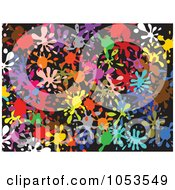 Royalty Free Clip Art Illustration Of A Background Pattern Of Splatters 2