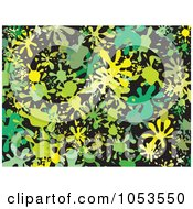 Royalty Free Clip Art Illustration Of A Background Pattern Of Splatters 5