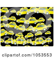 Royalty Free Clip Art Illustration Of A Background Pattern Of Taxi Cab Cars