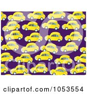 Royalty Free Clip Art Illustration Of A Background Pattern Of Yellow Cars