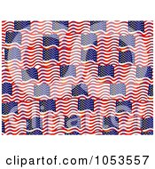 Background Pattern Of American Flags