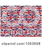 Royalty Free Clip Art Illustration Of A Background Pattern Of British Flags by Prawny