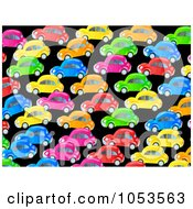 Royalty Free Clip Art Illustration Of A Background Pattern Of Colorful Cars