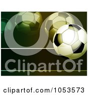 Royalty Free Vector Clip Art Illustration Of A Bouncing Soccer Ball Background