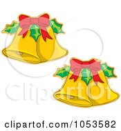 Royalty Free Vector Clip Art Illustration Of A Digital Collage Of Christmas Jingle Bell Stickers