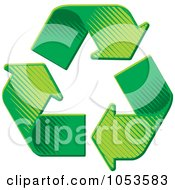 Royalty Free Vector Clip Art Illustration Of Green Recycle Arrows In Pyramid Formation by Any Vector