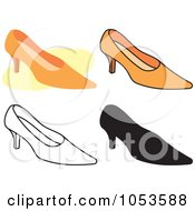Royalty Free Vector Clip Art Illustration Of A Digital Collage Of High Heel Shoes