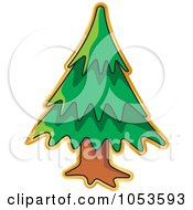 Royalty Free Vector Clip Art Illustration Of A Peeling Christmas Tree Sticker by Any Vector