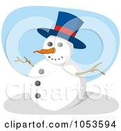 Royalty Free Vector Clip Art Illustration Of A Jolly Snowman