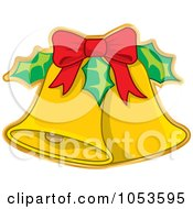 Royalty Free Vector Clip Art Illustration Of A Christmas Jingle Bell Sticker