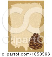 Royalty Free Vector Clip Art Illustration Of A Tan Border Around Beige With A Pinecone by Any Vector