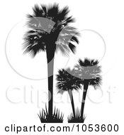 Royalty Free Vector Clip Art Illustration Of Silhouetted Palm Trees by Any Vector
