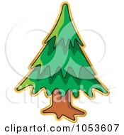 Royalty Free Vector Clip Art Illustration Of A Christmas Tree Sticker