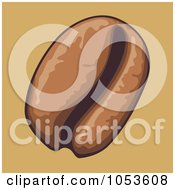 Royalty Free Vector Clip Art Illustration Of A Coffee Bean On Tan