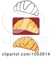 Royalty Free Vector Clip Art Illustration Of A Digital Collage Of Croissants by Any Vector