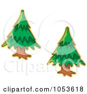 Royalty Free Vector Clip Art Illustration Of A Digital Collage Of Christmas Tree Stickers by Any Vector