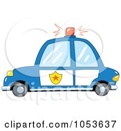 Royalty Free Vector Clip Art Illustration Of A Police Car by yayayoyo