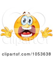 Royalty Free Vector Clip Art Illustration Of A Stressed Emoticon Face by yayayoyo #COLLC1053638-0157