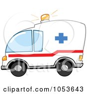Royalty Free Vector Clip Art Illustration Of An Ambulance