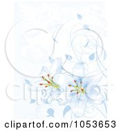 Royalty Free Vector Clip Art Illustration Of A Blue Easter Lily Background by Pushkin